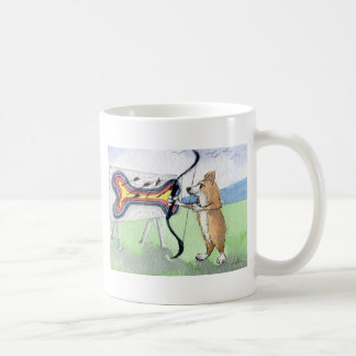 Caneca De Café Tiro ao arco do cão do Corgi de Galês