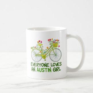 Caneca De Café Todos ama uma menina de Austin