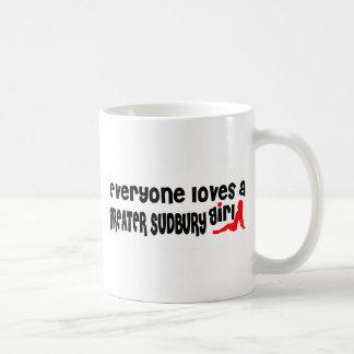 Caneca De Café Todos ama uma menina maior de Sudbury