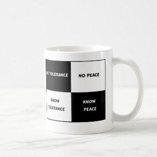 Caneca De Café tolerância = paz