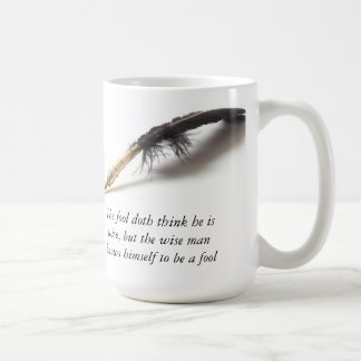 Caneca De Café Tolo sábio de Shakespeare |