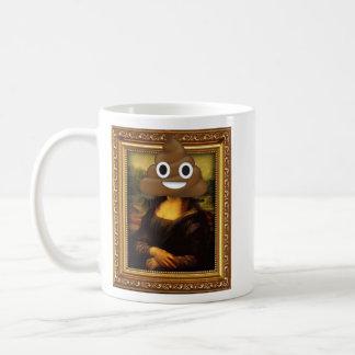 Caneca De Café Tombadilho feliz de Mona Lisa