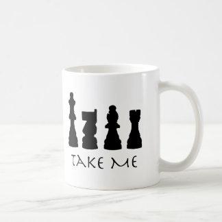 Caneca De Café Tome-me partes de xadrez