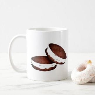 Caneca De Café Torta de Whoopie do chocolate de Maine do Dutch do