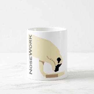 Caneca De Café Trabalho de Mastiffs_Nose