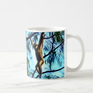 """Caneca De Café """"Trabalhos de arte do Gibbon de suspensão"""""""
