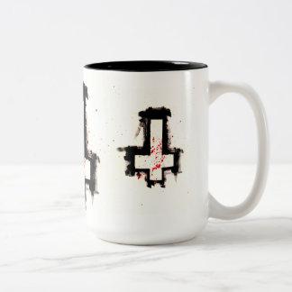 Caneca de café transversal invertida