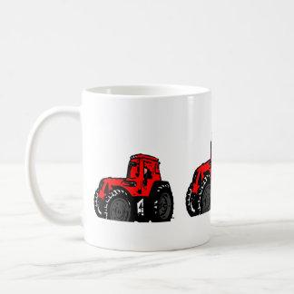 Caneca De Café Trator vermelho