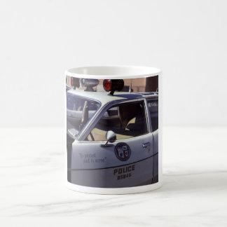 Caneca De Café Travesseiro decorativo preto & branco de LAPD