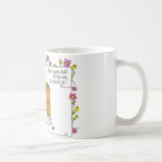 """Caneca De Café """"Trem acima de uma criança """""""