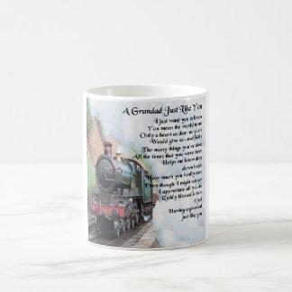 Caneca De Café Trem - poema do Grandad