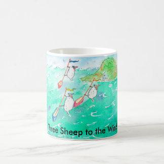 Caneca De Café Três carneiros ao vento