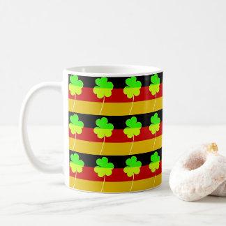 Caneca De Café Trevo alemão irlandês St Patrick do trevo da