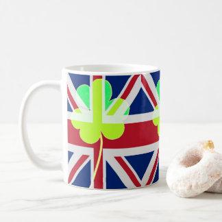 Caneca De Café Trevo britânico irlandês St Patrick Reino Unido do