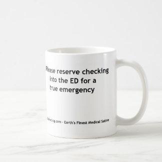 Caneca De Café Triagem do departamento de emergência