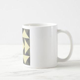 Caneca De Café Triângulos do preto e do ouro