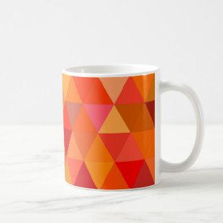 Caneca De Café Triângulos quentes do sol