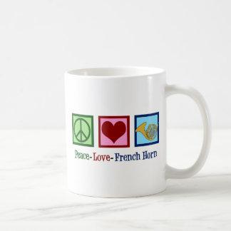 Caneca De Café Trompa francesa do amor da paz