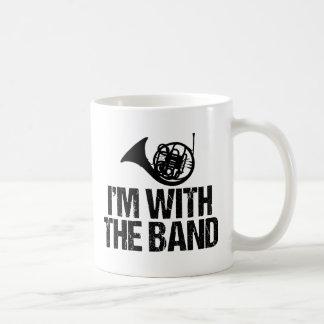 Caneca De Café Trompa francesa engraçada eu sou com a banda