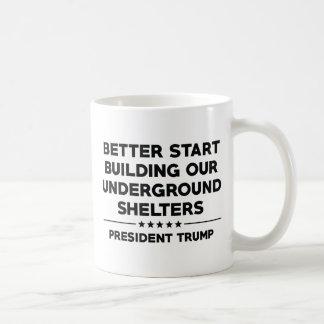 Caneca De Café Trunfo subterrâneo dos abrigos