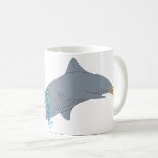 Caneca De Café Tubarão artístico legal