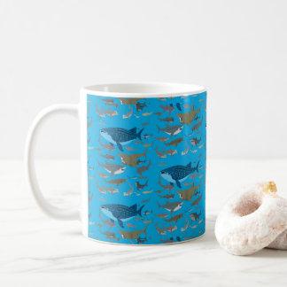 Caneca De Café Tubarões dos oceanos