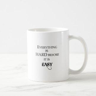 Caneca De Café tudo é duro antes que esteja goethe fácil