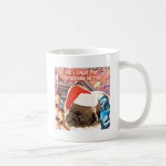 Caneca De Café Tudo que eu quero para o Natal é você