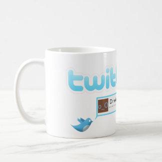 """Caneca De Café Twitter do """"chá bebendo """""""