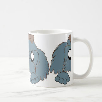 Caneca De Café tzu de shih que espreita o azul