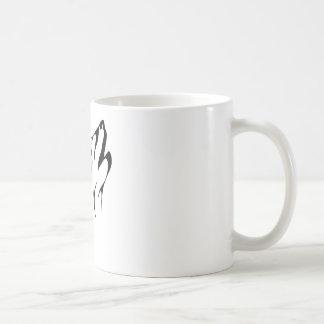 Caneca De Café Uivo simples do lobo