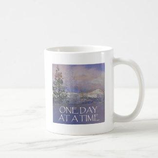 Caneca De Café Um dia em uma neve das colinas de Tres do tempo