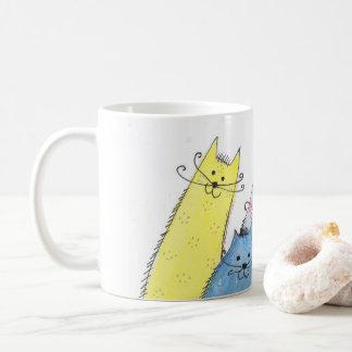 Caneca De Café um grupo dos gatos #2