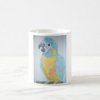 Caneca De Café Um papagaio com fome do Macaw do bebê