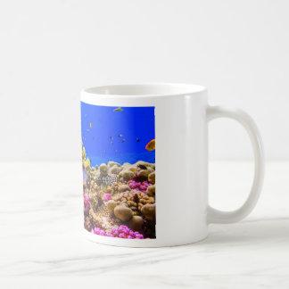 Caneca De Café Um recife de corais no Mar Vermelho perto de