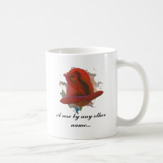 Caneca De Café Um rosa por algum outro conhecido…