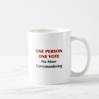 Caneca De Café Um voto da pessoa uma, Gerrymandering