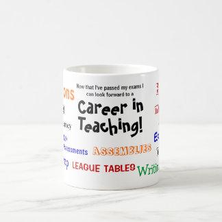 Caneca De Café Uma carreira no ensino! Sucesso engraçado do exame