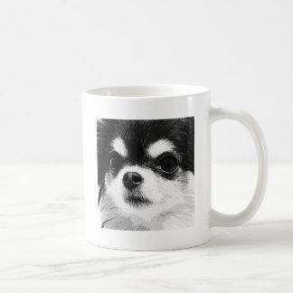 Caneca De Café Uma chihuahua preto e branco