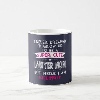 Caneca De Café Uma mamã bonito super do advogado