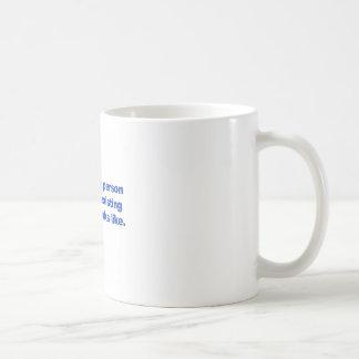 Caneca De Café Uma pessoa com uma circunstância pre-existente