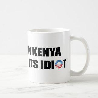 Caneca De Café Uma vila em Kenya está faltando seu idiota