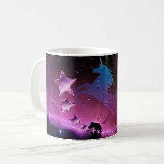 Caneca De Café Unicórnio com estrelas