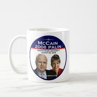 Caneca De Café Universidade estadual comemorativa de McCain Palin