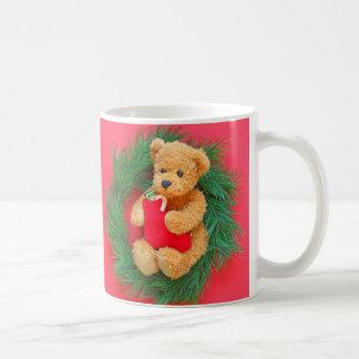 Caneca De Café Urso de ursinho na grinalda com meia