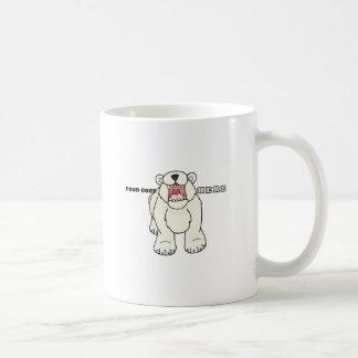 Caneca De Café Urso polar com fome