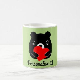 Caneca De Café Urso preto que guardara um coração