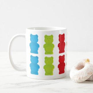 Caneca De Café Ursos gomosos coloridos