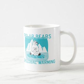 Caneca De Café Ursos polares para o aquecimento global