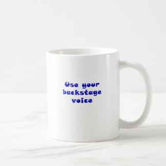 Caneca De Café Use sua voz de bastidores